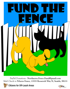 fund the fence poster